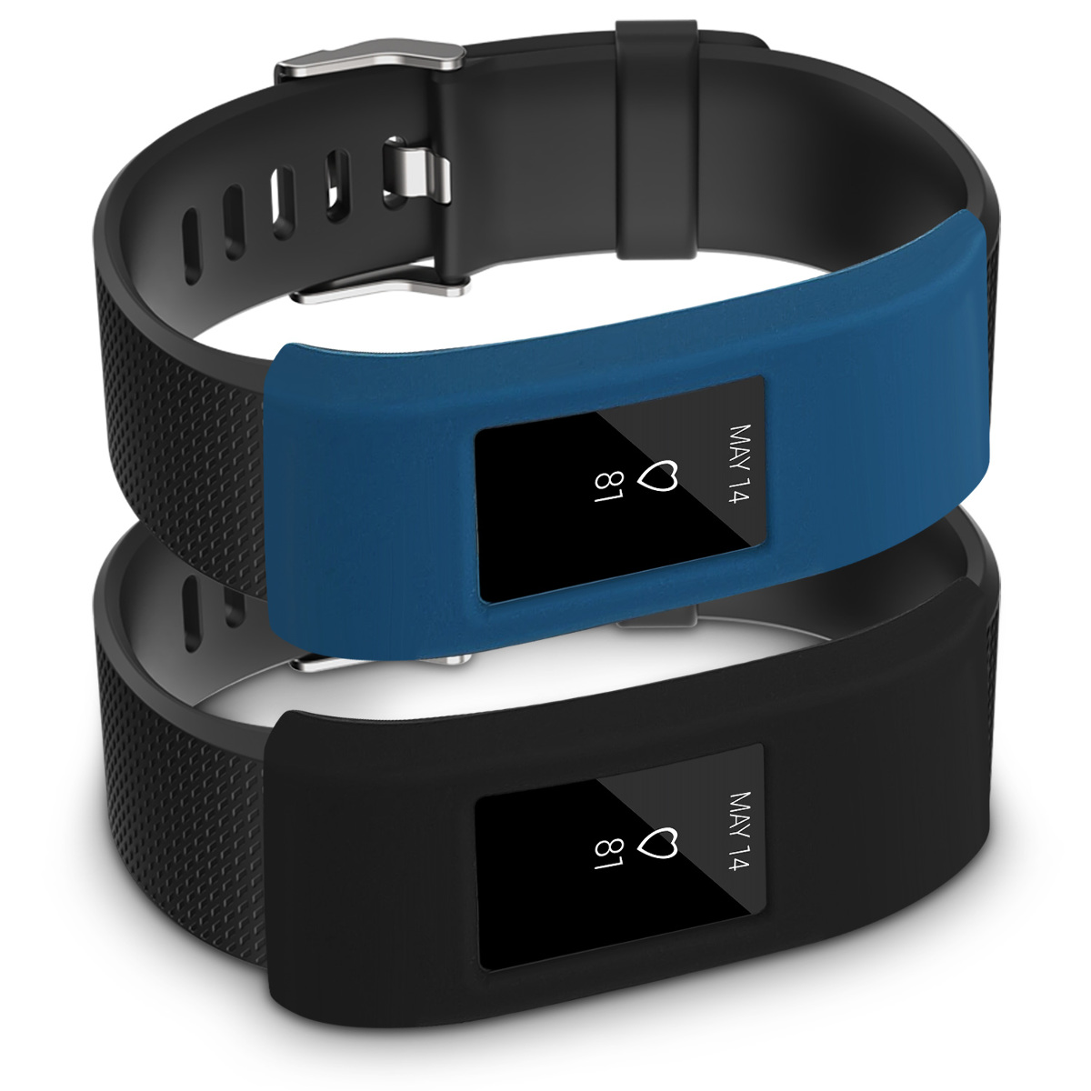 2x silikon armband schutz h lle f r fitbit charge 2 fitnessband case cover ebay. Black Bedroom Furniture Sets. Home Design Ideas