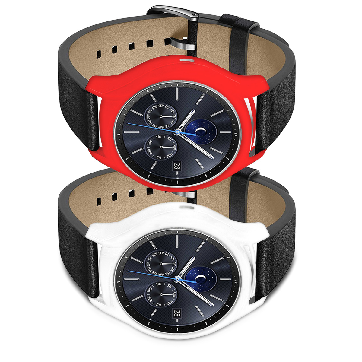 2x silikon armband schutz h lle f r samsung gear s3 classic fitnessband case ebay. Black Bedroom Furniture Sets. Home Design Ideas