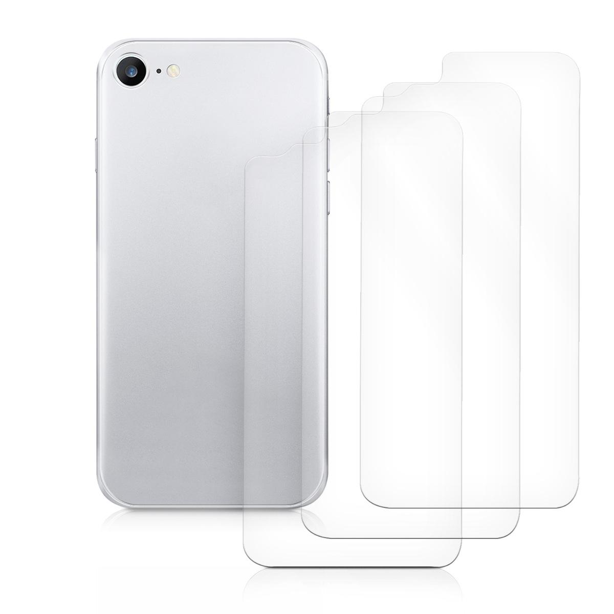3x schutz folie r ckseite f r apple iphone 8 hinten handy. Black Bedroom Furniture Sets. Home Design Ideas