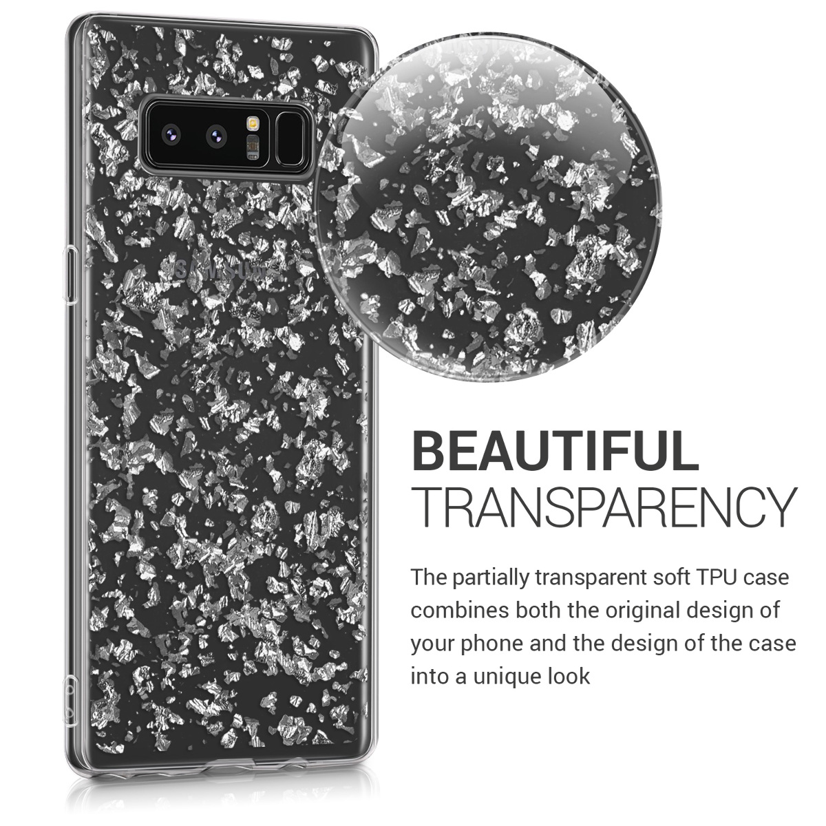 Tpu Silicone Crystal Back Case For Samsung Galaxy Note 8 Ebay Flower Xiaomi Redmi 1 2 Diamond Soft Softcase Kwmobile Clear Smartphone Protective Cover Desired Colour