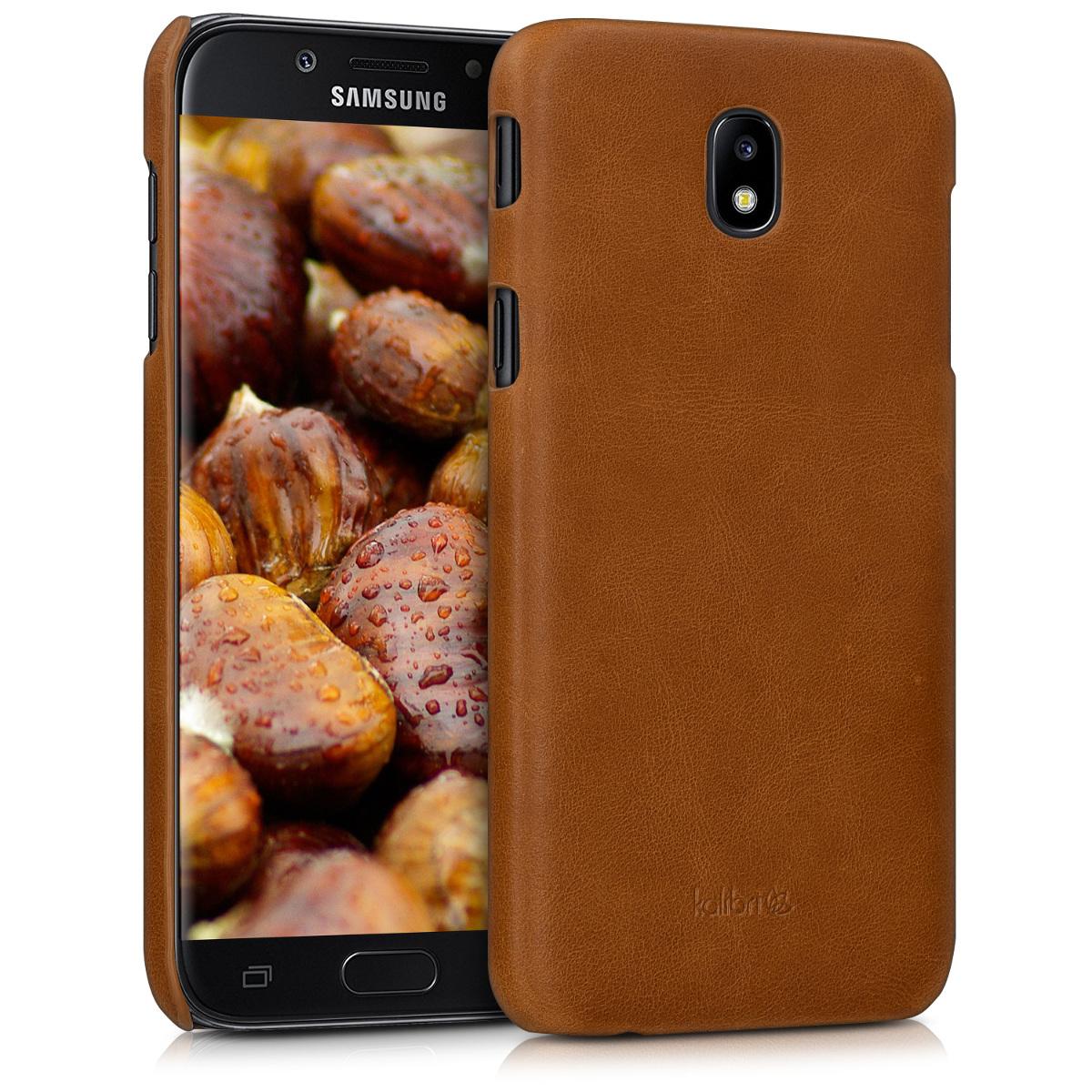 Kožené pouzdro pro Samsung J5 (2017) DUOS - Koňak