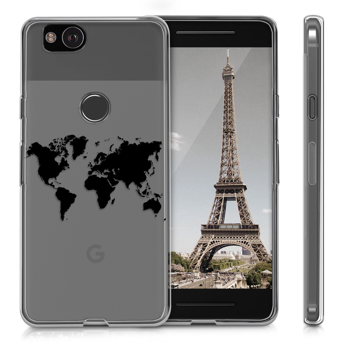 Kwmobile tpu silicone crystal case for google pixel 2 soft cover resntentobalflowflowcomponenttechnicalissues gumiabroncs Choice Image