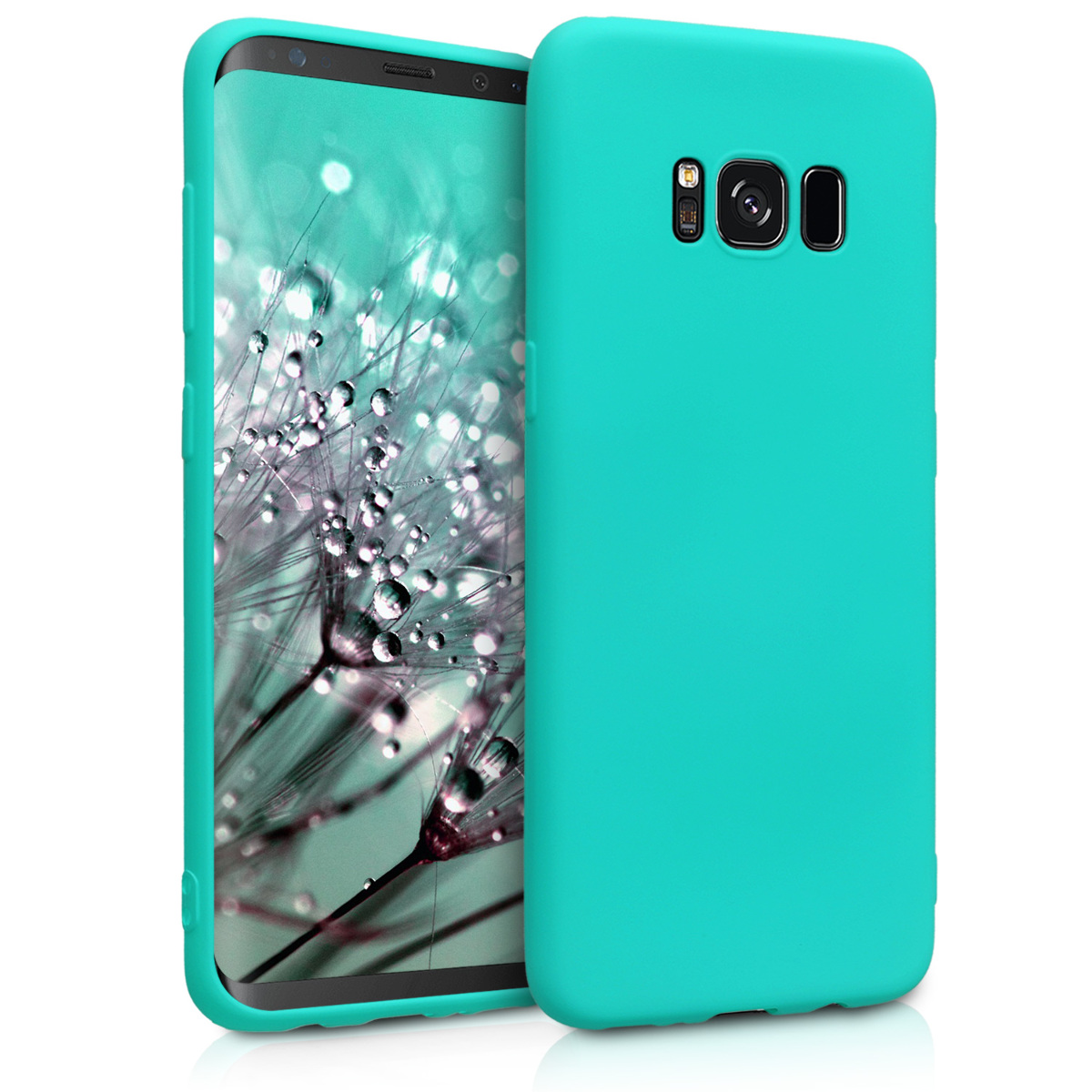 Kvalitní silikonové TPU pouzdro pro Samsung S8 - neonově tyrkysové