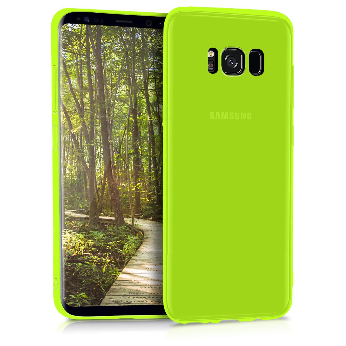 Kvalitní silikonové TPU pouzdro pro Samsung S8 - neonově žluté