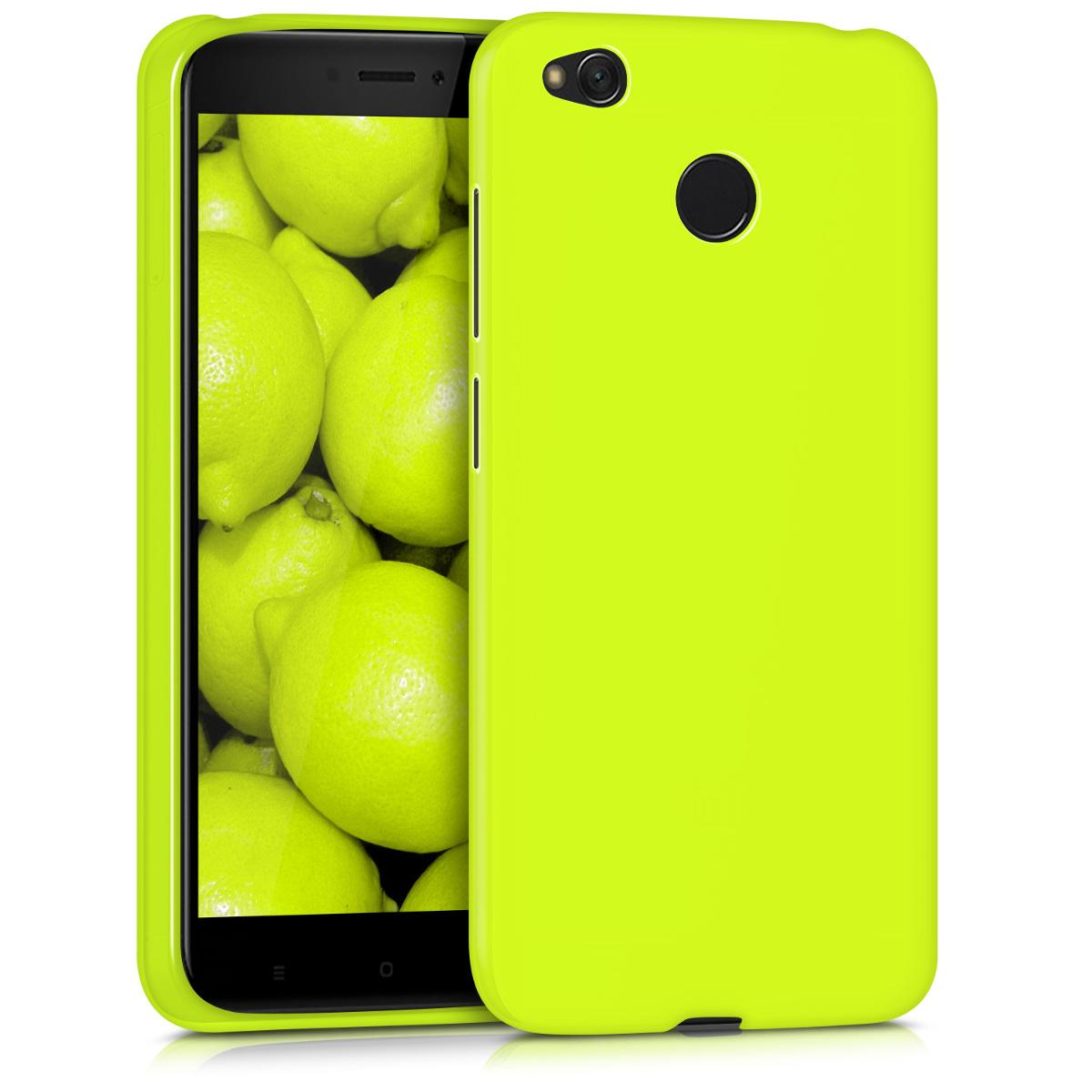 Kvalitní silikonové TPU pouzdro | obal pro Xiaomi Redmi 4X - Neon žluté