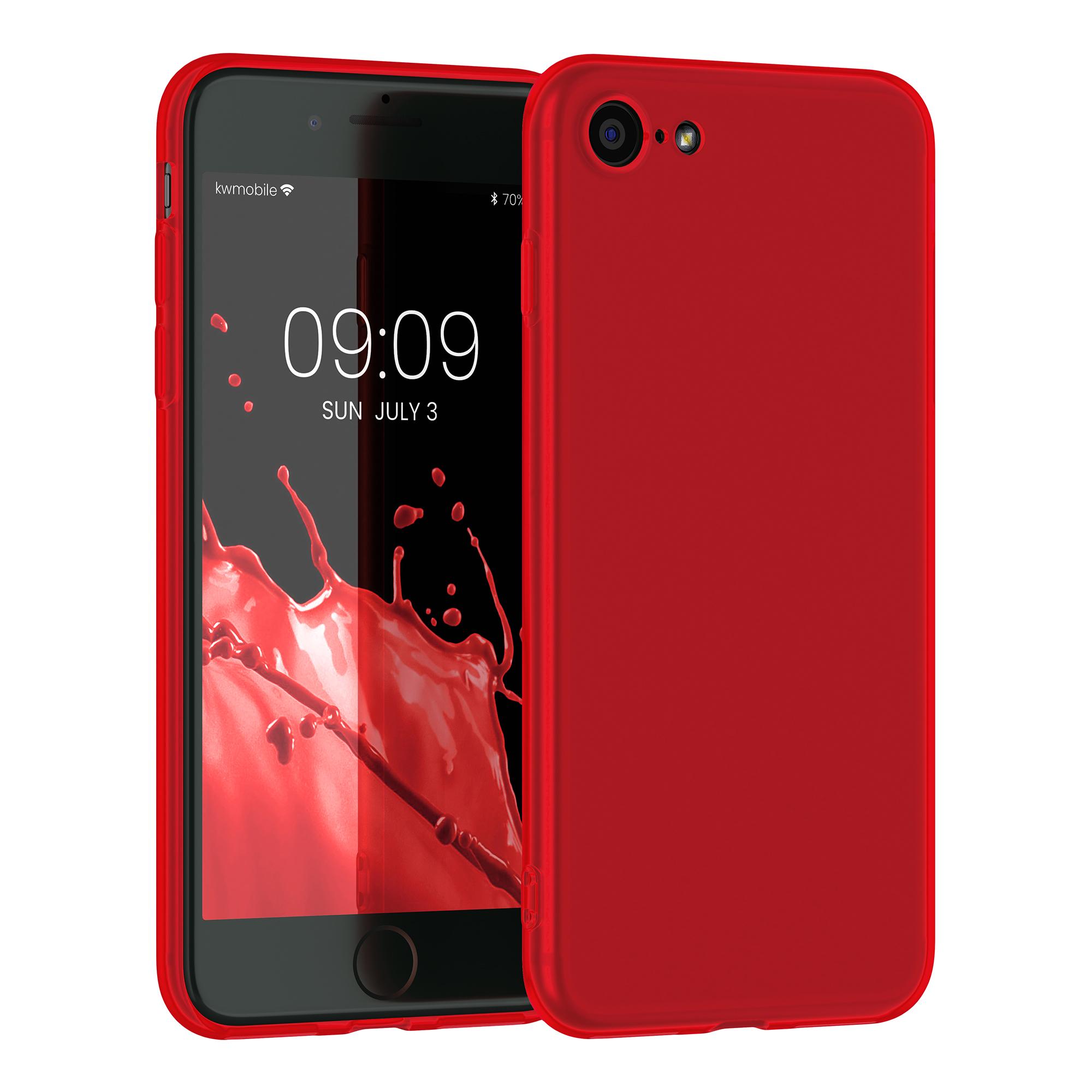 Kvalitní silikonové TPU pouzdro pro Apple iPhone 7 / 8 / SE  - Neon Red