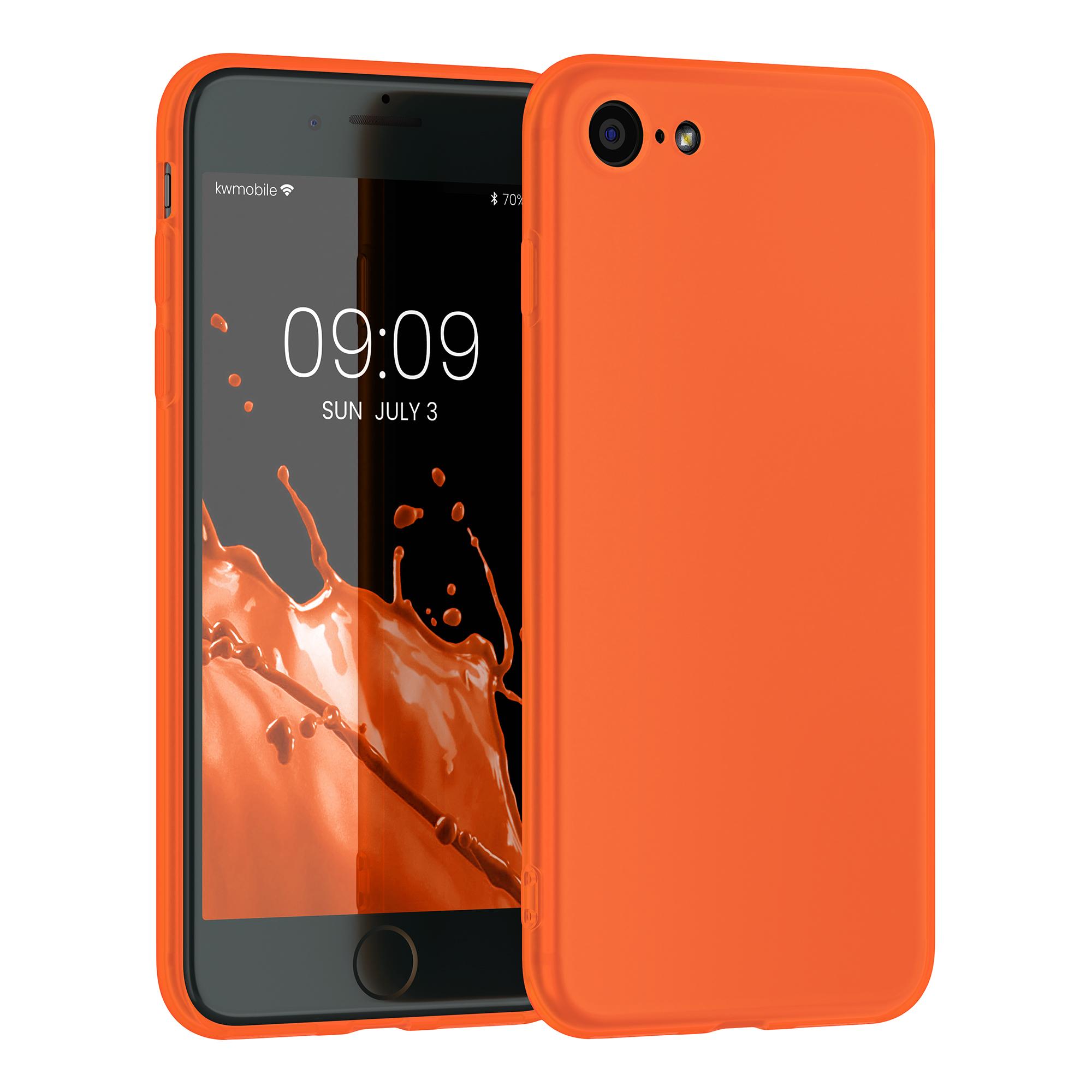 Kvalitní silikonové TPU pouzdro pro Apple iPhone 7 / 8 / SE  - Neon Orange