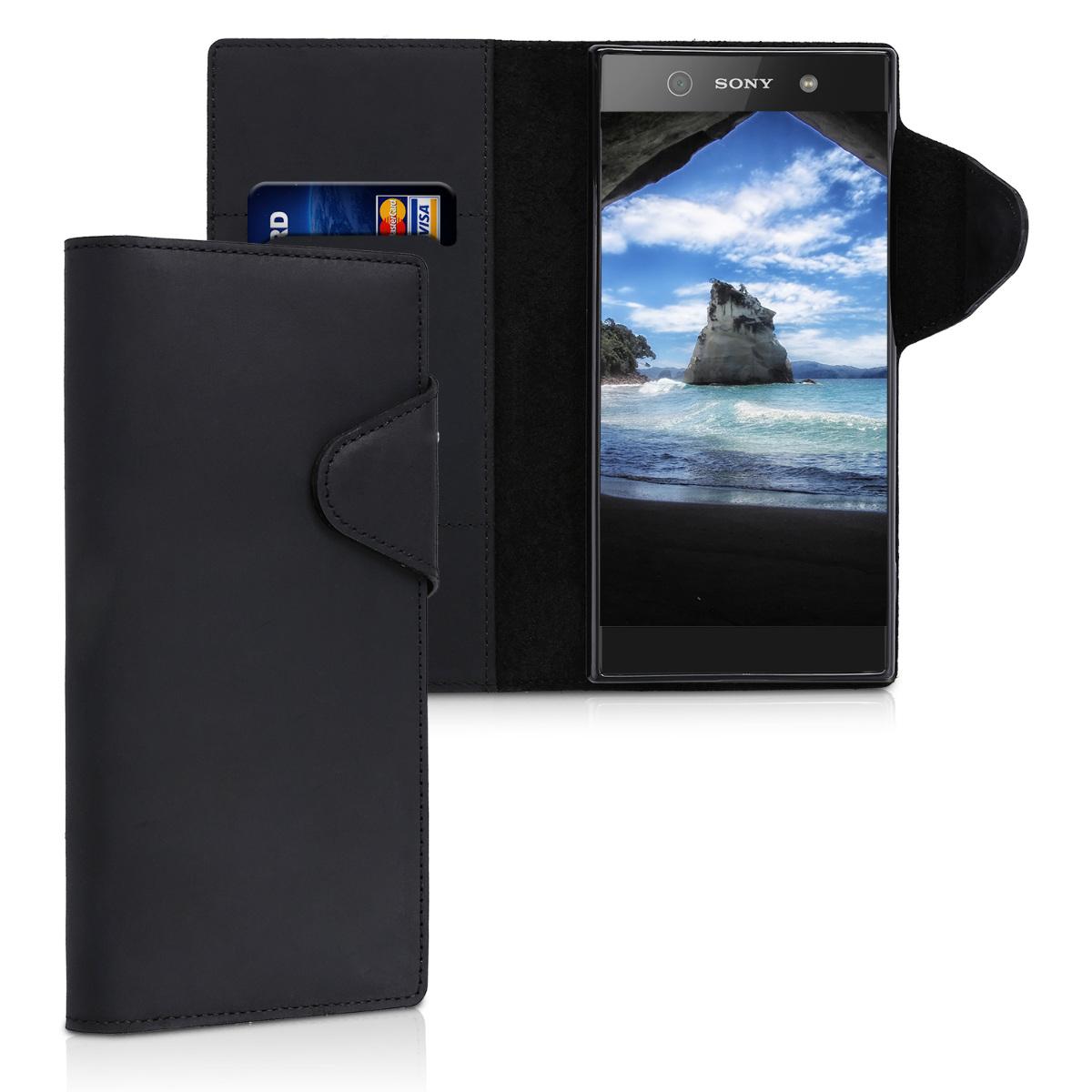 Kožené pouzdro | obal pro Sony Xperia XA1 Ultra - černé
