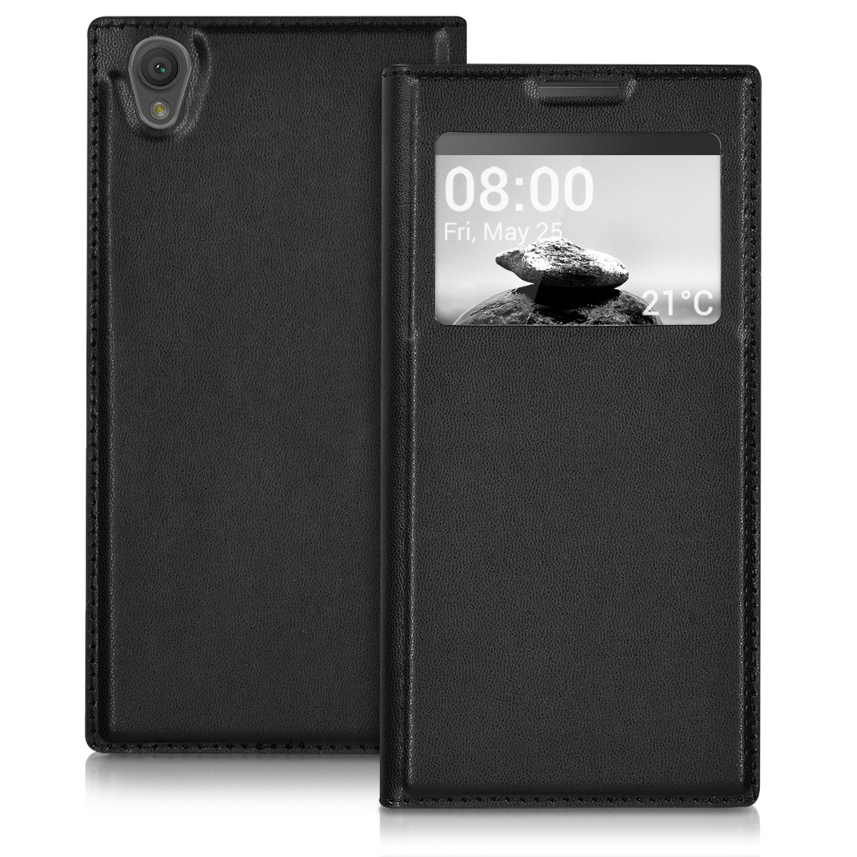 kwmobile-WINDOW-SYNTHETIC-LEATHER-FLIP-COVER-FOR-SONY-XPERIA-L1-CASE-SLIM-BACK
