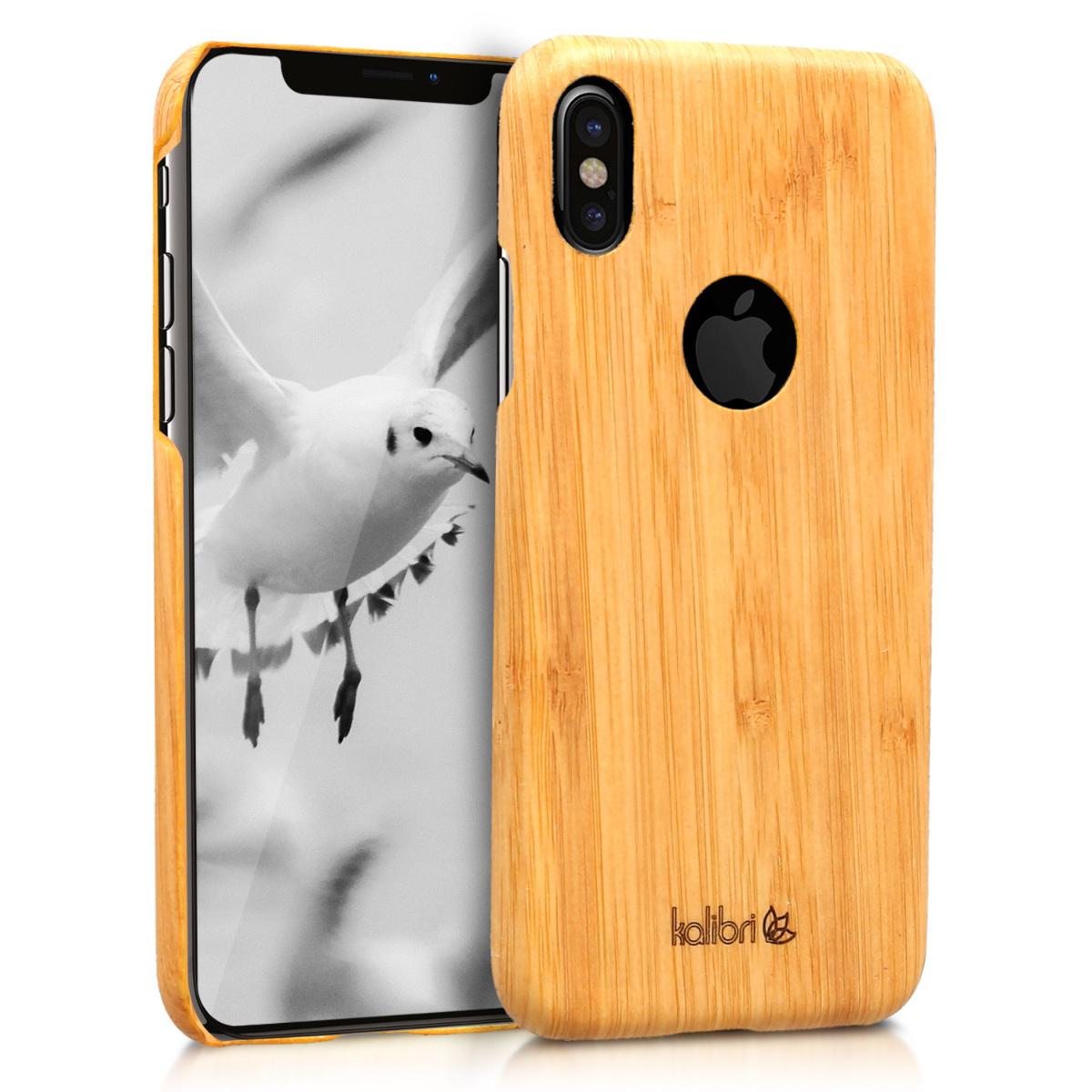 Světlé dřevěné pouzdro pro  Apple iPhone X