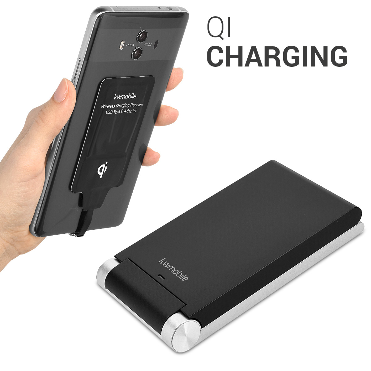 qi ladeempf nger usb c anschluss type c receiver qi ladestation smartphone ebay. Black Bedroom Furniture Sets. Home Design Ideas