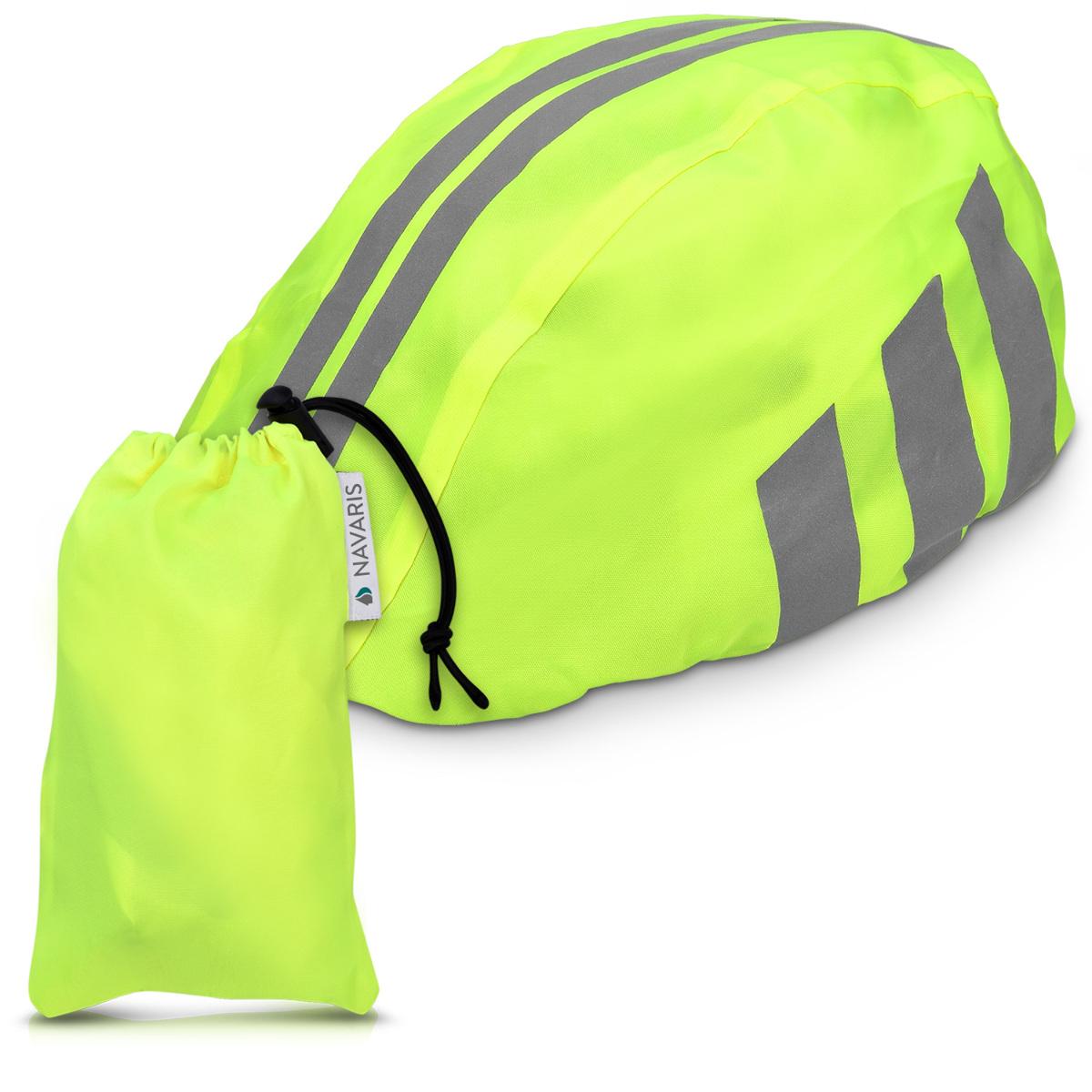 Navaris-Set-protection-jaune-neon-visibilite-pluie-impermeable-casque-velo