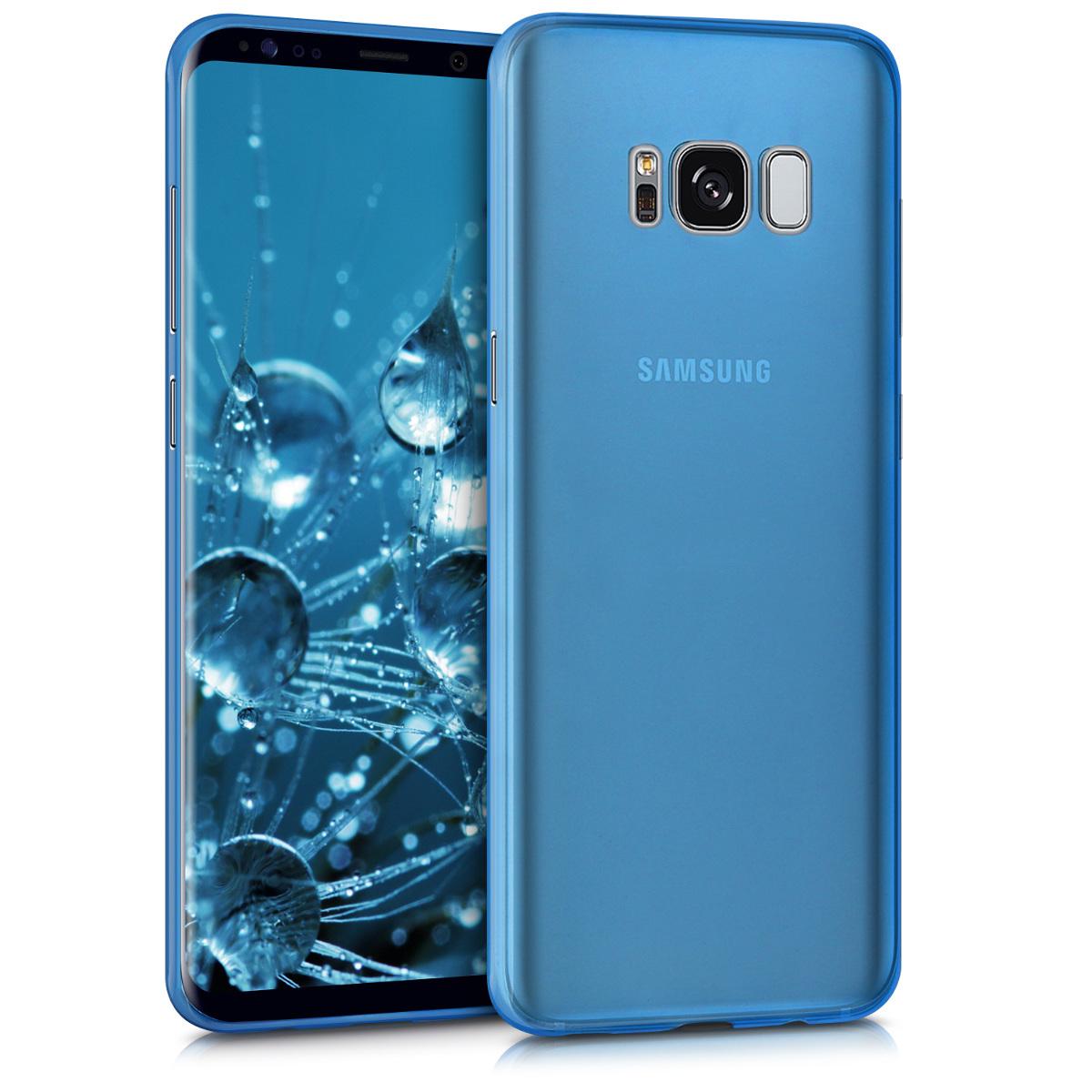 Kvalitní plastové pouzdro pro Samsung S8 - Modrý