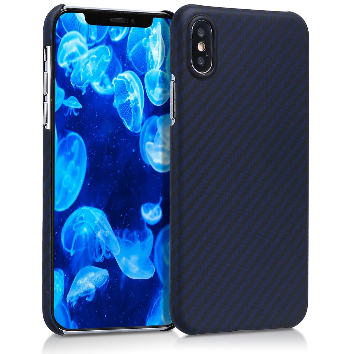 Aramidpouzdro pro Apple iPhone X - Dark Blue Matte