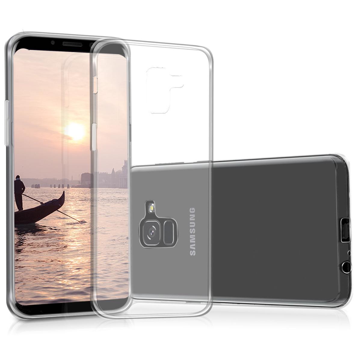 Kvalitní silikonové TPU pouzdro pro Samsung A8 (2018) - průhledné