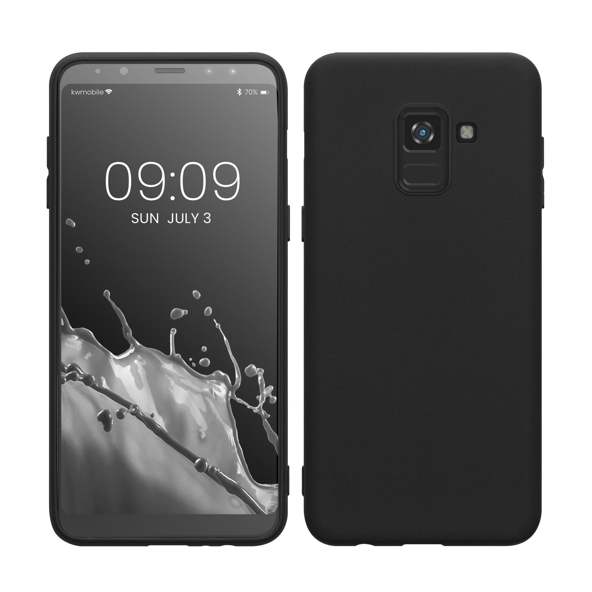 Kvalitní silikonové TPU pouzdro pro Samsung A8 (2018) - černé matné