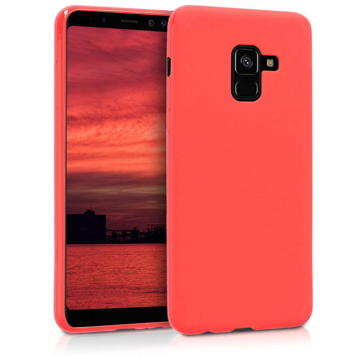 Kvalitní silikonové TPU pouzdro pro Samsung A8 (2018) - červené matné