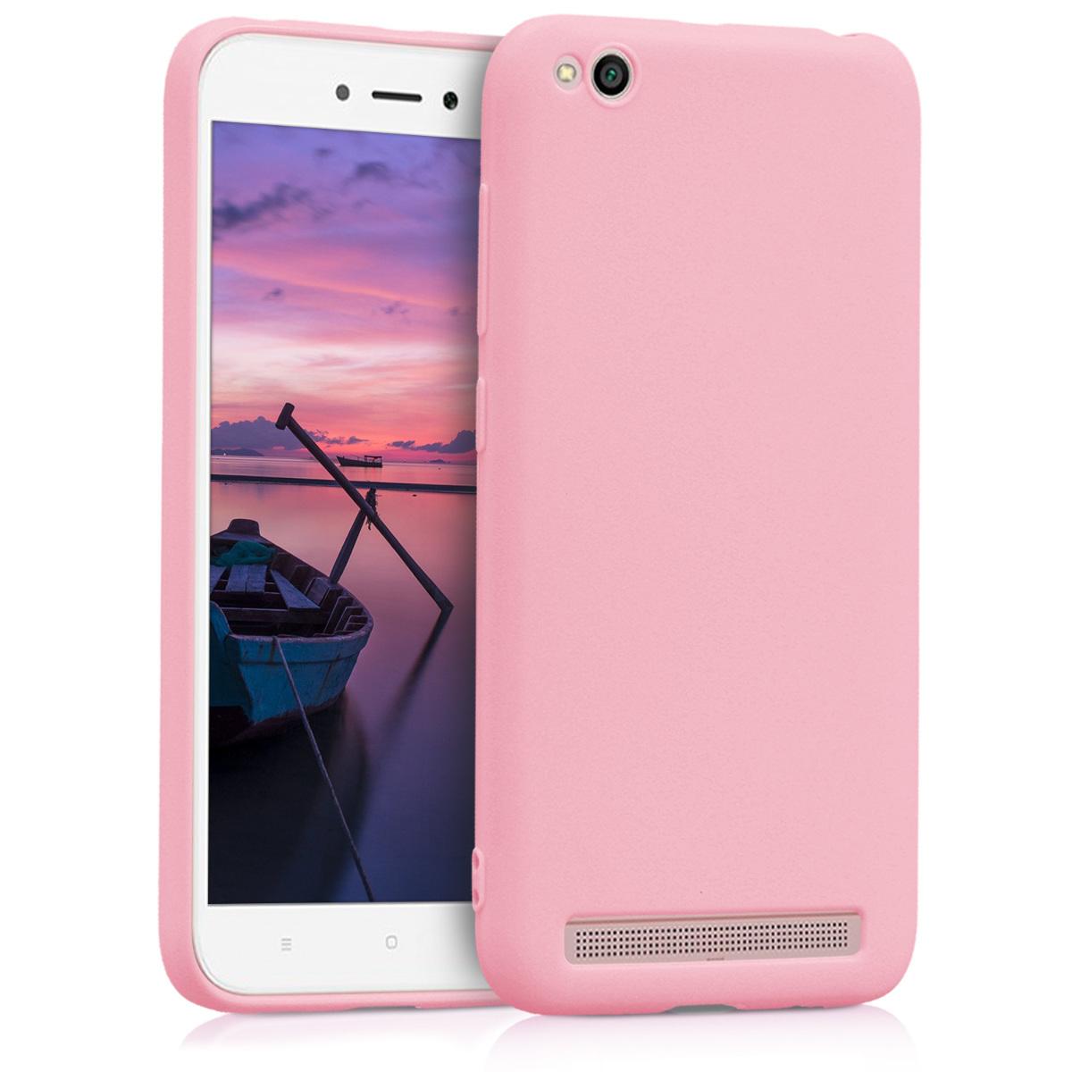Kvalitní silikonové TPU pouzdro | obal pro Xiaomi Redmi 5A - Light růžový matný