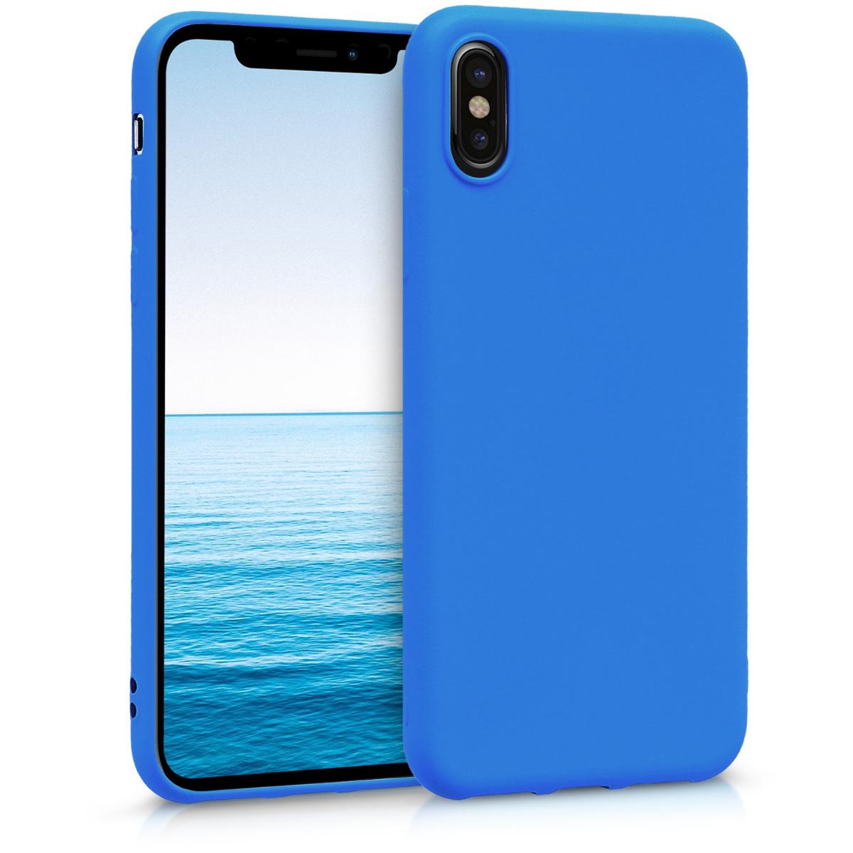 Kvalitní silikonové TPU pouzdro pro Apple iPhone X - Neon modrý