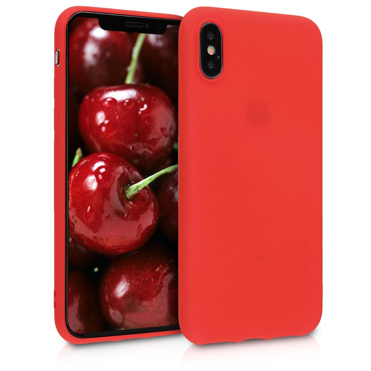 Kvalitní silikonové TPU pouzdro pro Apple iPhone X - Neon Red