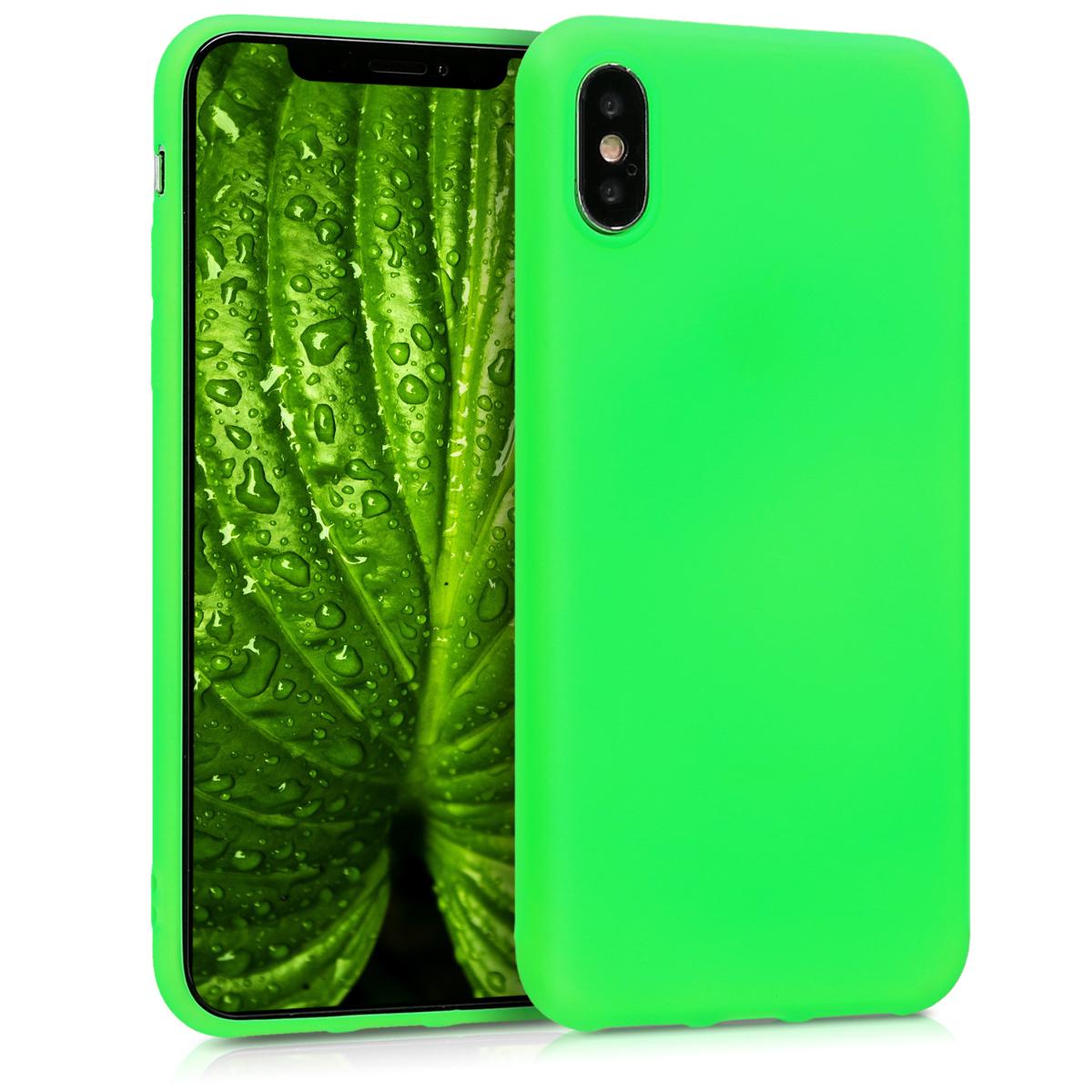 Kvalitní silikonové TPU pouzdro pro Apple iPhone X - Neonově zelená
