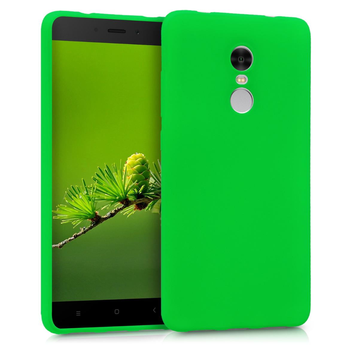 Kvalitní silikonové TPU pouzdro | obal pro Xiaomi Redmi Note 4 | Note 4X - Neonově zelená