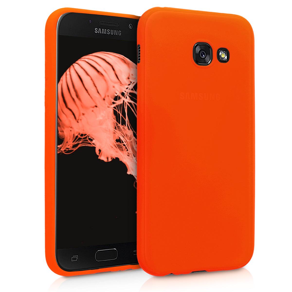 Kvalitní silikonové TPU pouzdro pro Samsung A5 (2017) - neonově oranžové