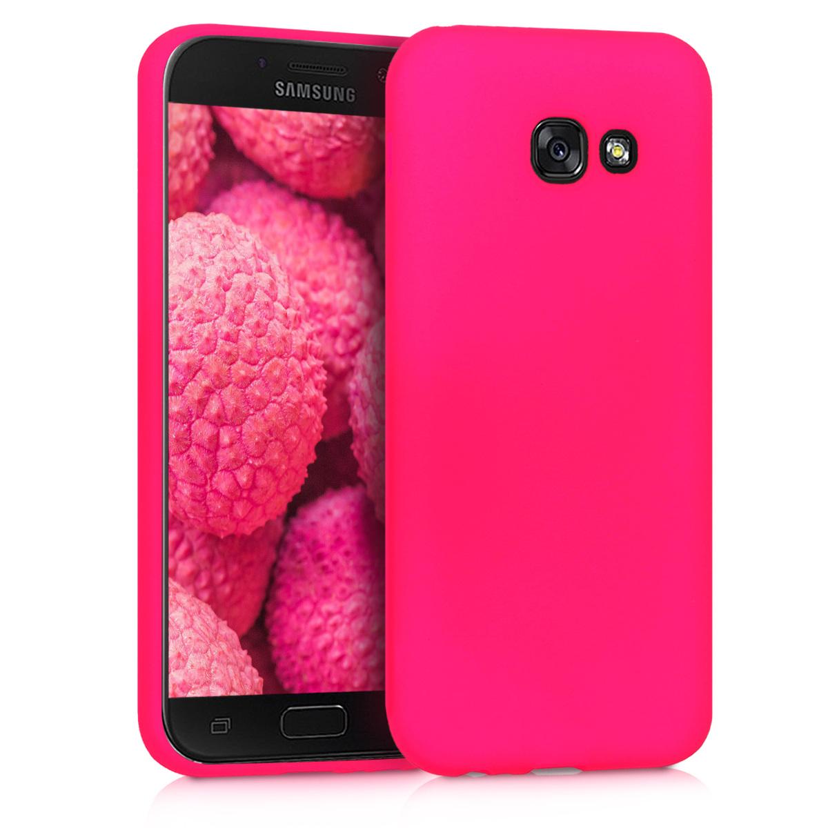 Kvalitní silikonové TPU pouzdro pro Samsung A5 (2017) - neonově růžové