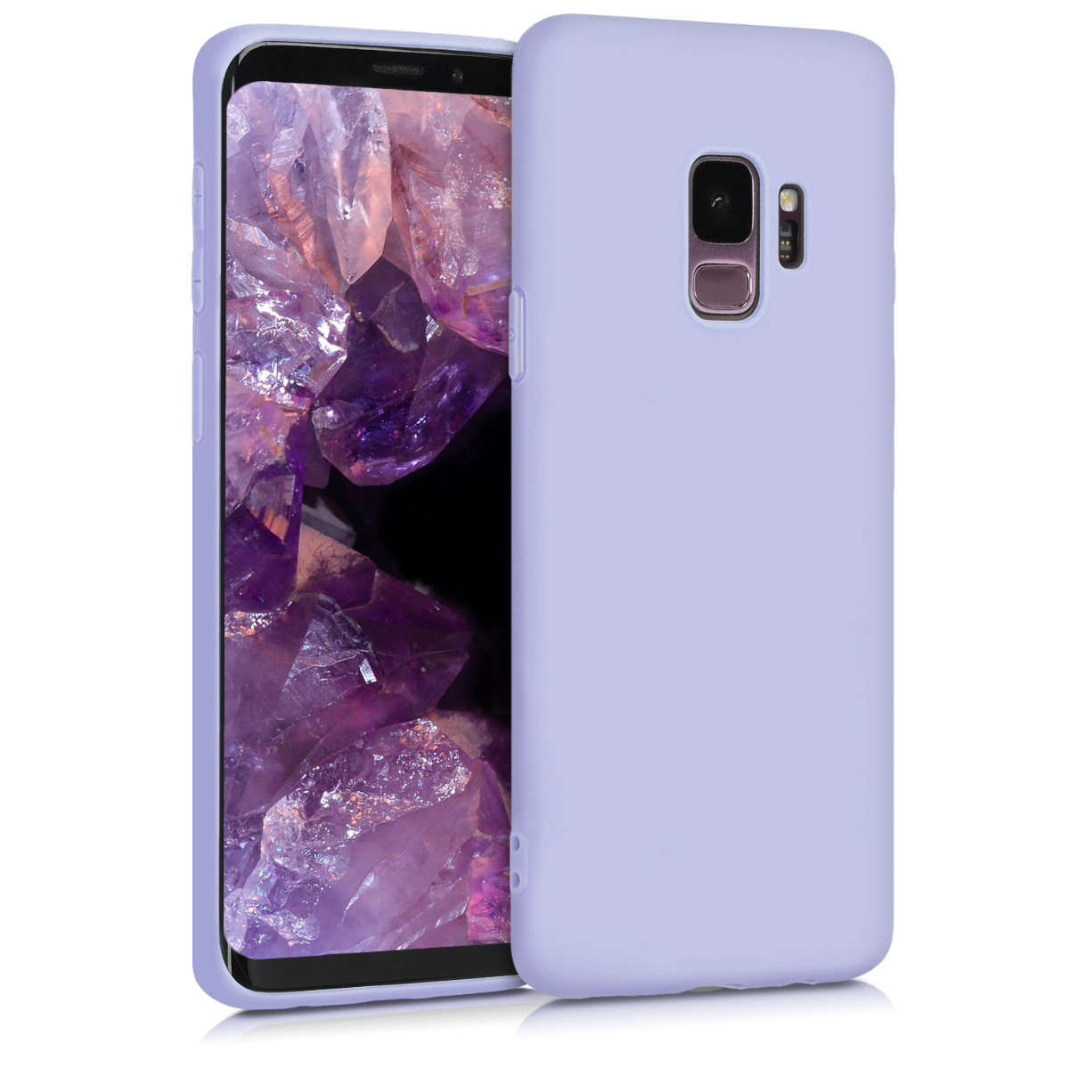 TPU Silikonové pouzdro pro Samsung Galaxy S9 - Soft Flexible Protective Phone Cover - Light Lavender