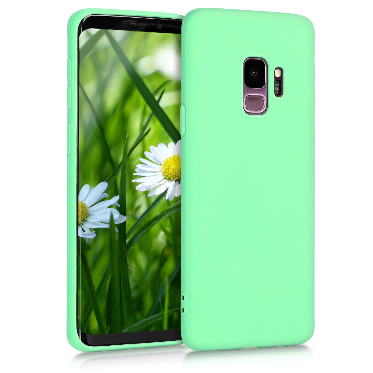 TPU Silikonové pouzdro pro Samsung Galaxy S9 - Soft Flexible Protective Phone Cover - Peppermint Green