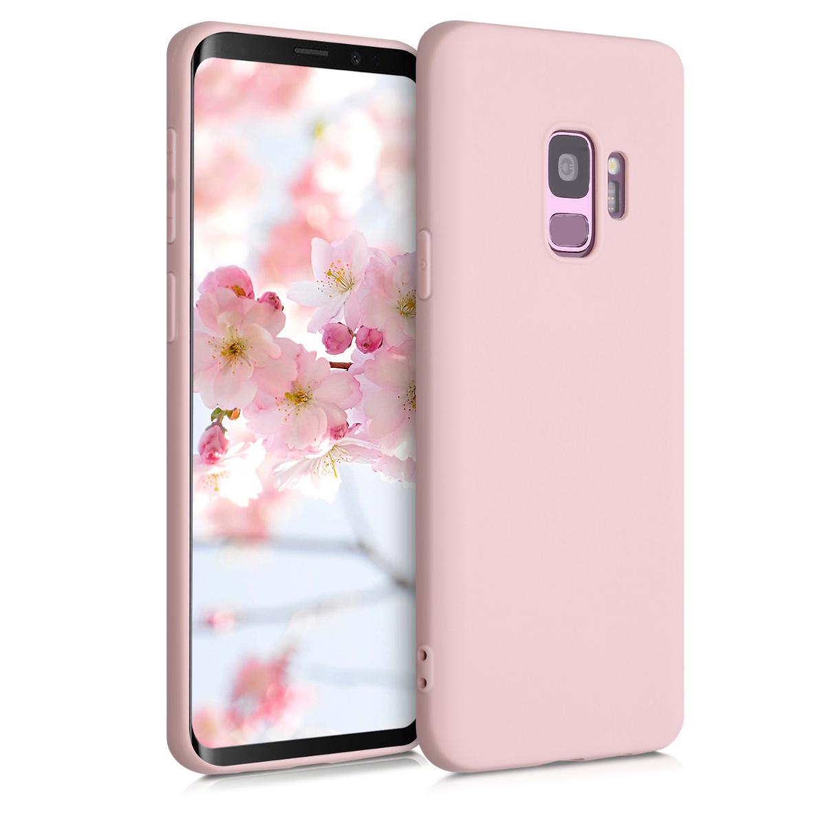 TPU Silikonové pouzdro pro Samsung Galaxy S9 - Soft Flexible Protective Phone Cover - Peach Skin