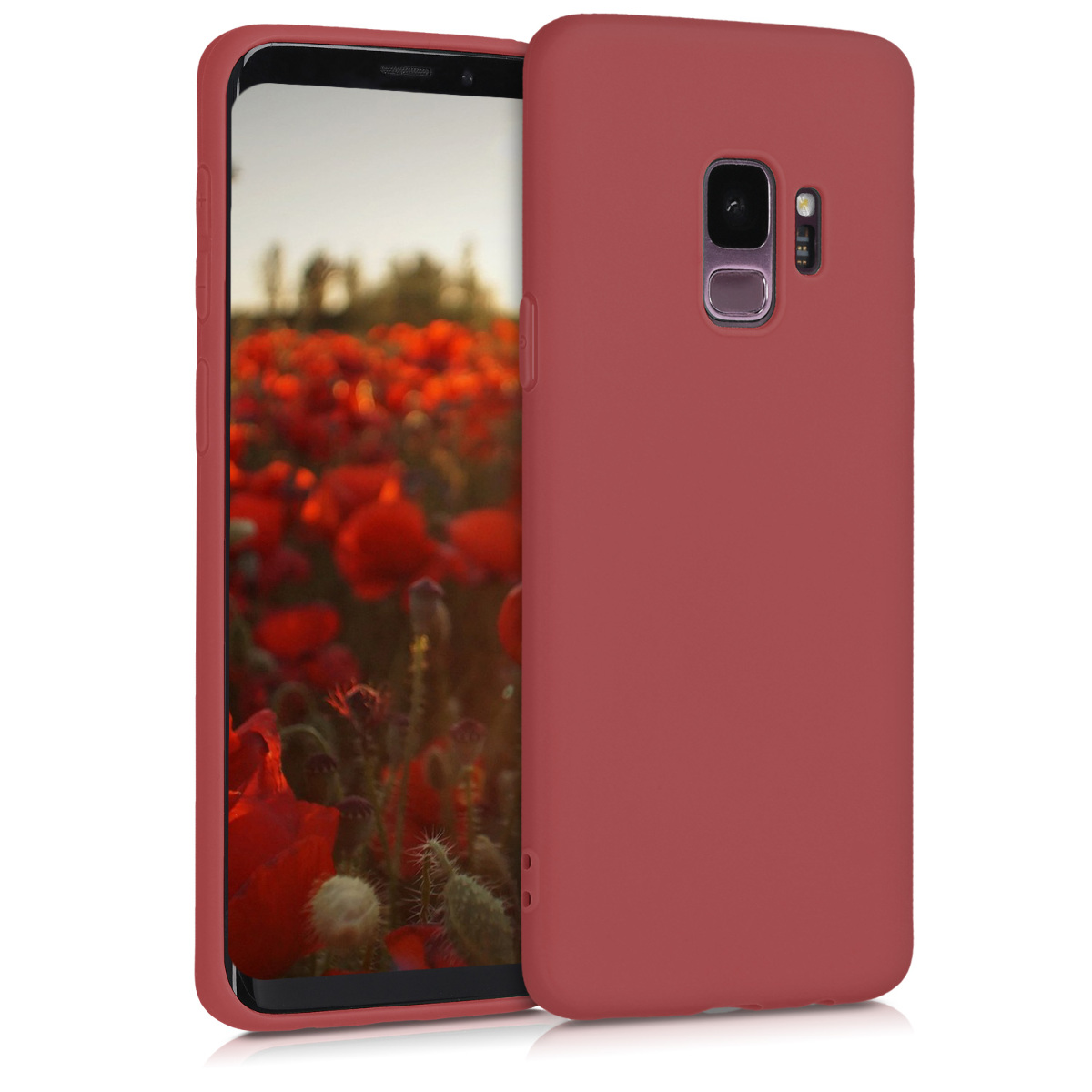 TPU Silikonové pouzdro pro Samsung Galaxy S9 - Soft Flexible Protective Phone Cover - Maroon Red