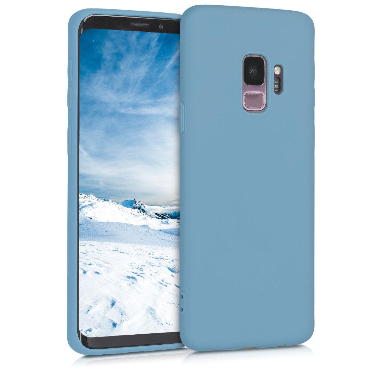 TPU Silikonové pouzdro pro Samsung Galaxy S9 - Soft Flexible Protective Phone Cover - Dove Blue