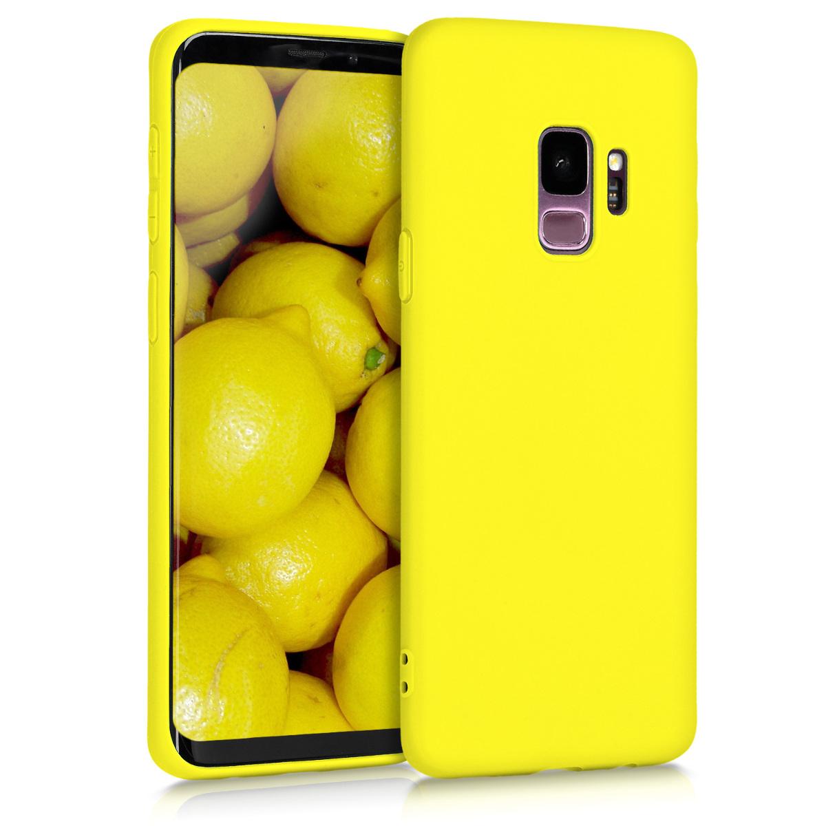 TPU Silikonové pouzdro pro Samsung Galaxy S9 - Soft Flexible Protective Phone Cover - Vibrant Yellow