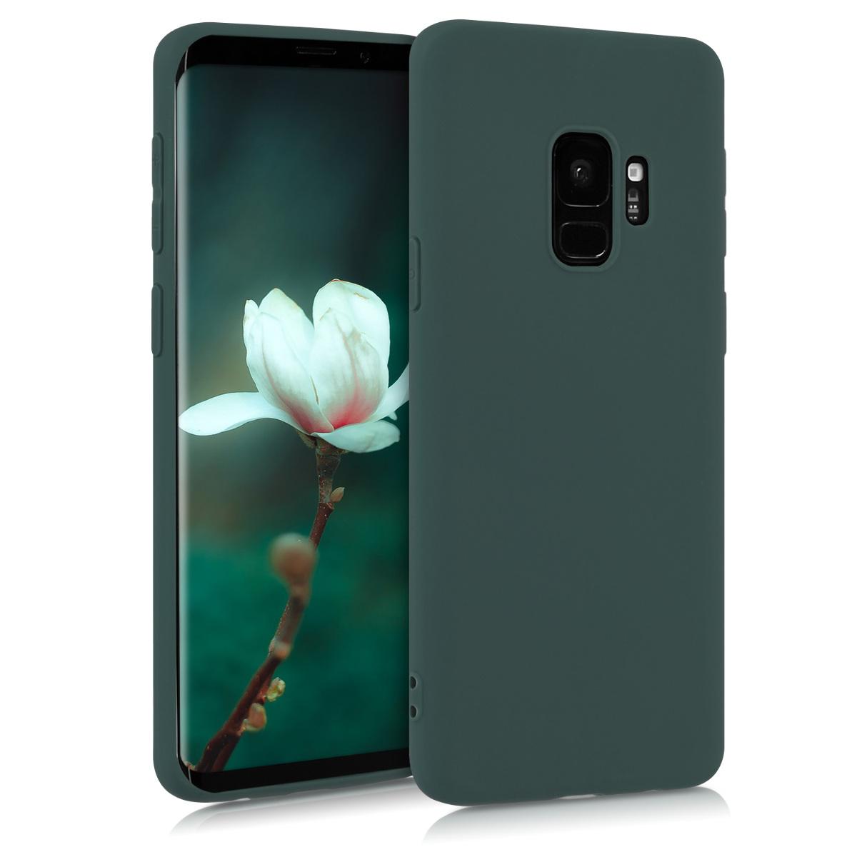 Kvalitní silikonové TPU pouzdro pro Samsung S9 - Moss zelené