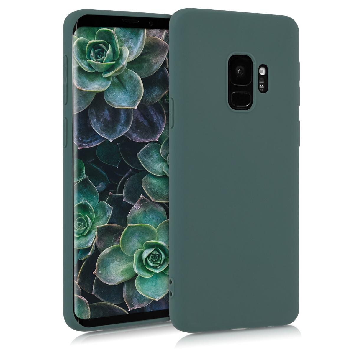 Kvalitní silikonové TPU pouzdro pro Samsung S9 - modré zelená