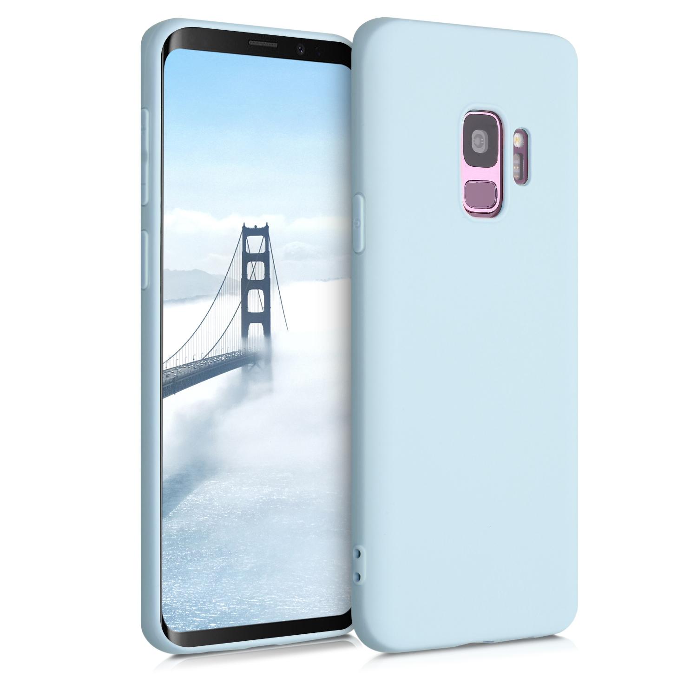 Kvalitní silikonové TPU pouzdro pro Samsung S9 - pastelově modrá