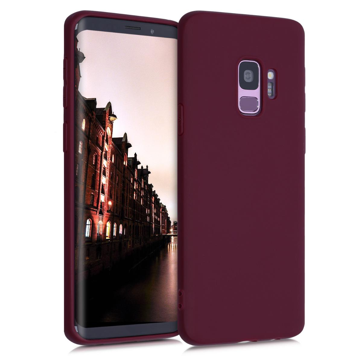 TPU Silikonové pouzdro pro Samsung Galaxy S9 - Soft Flexible Protective Phone Cover - Bordeaux Violet