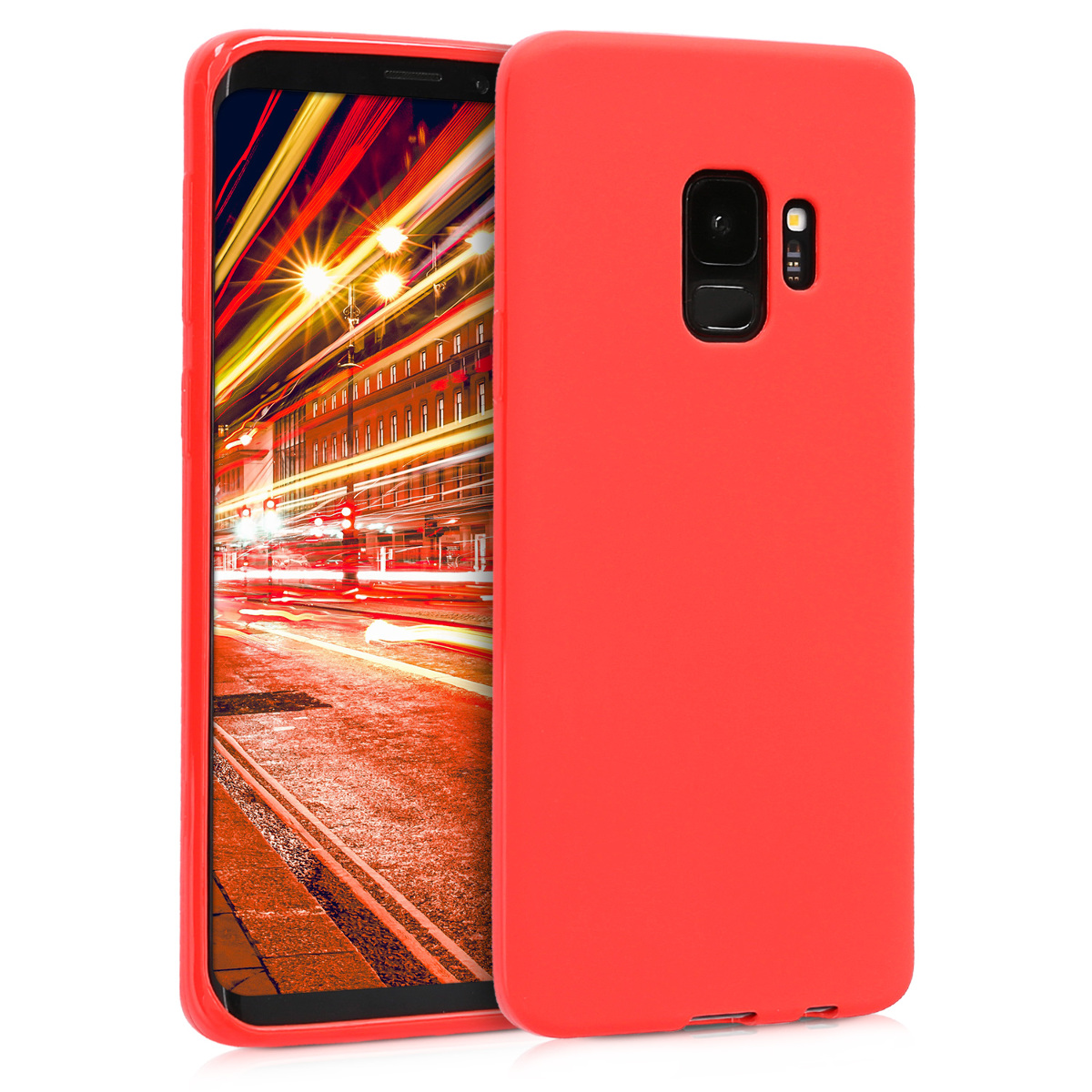 TPU Silikonové pouzdro pro Samsung Galaxy S9 - Soft Flexible Protective Phone Cover - Red Matte