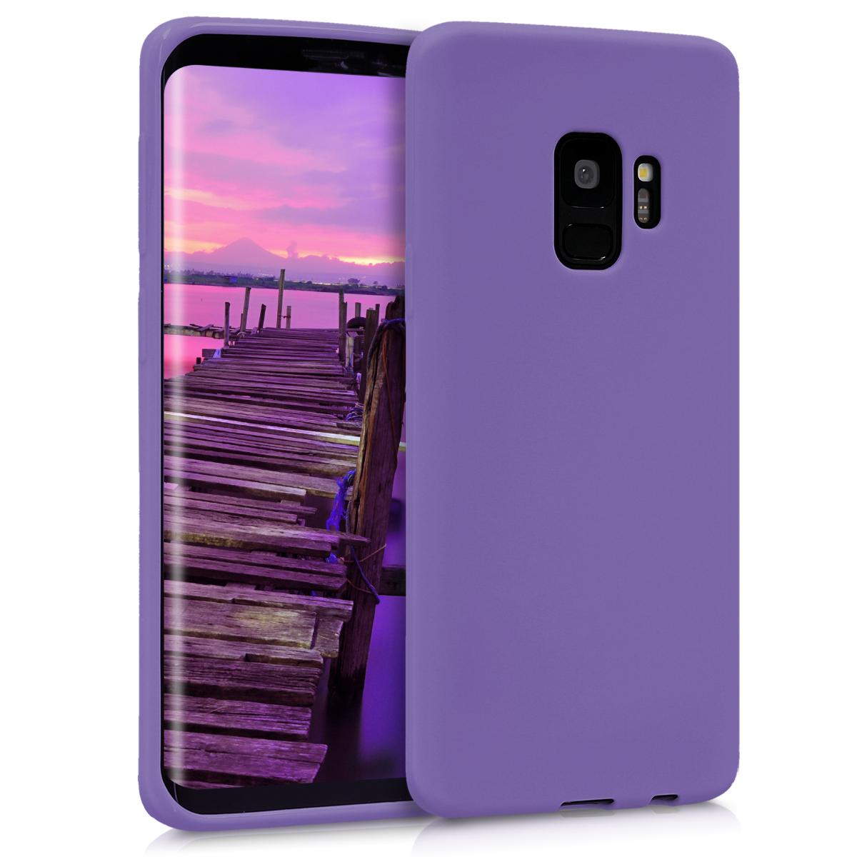 Kvalitní silikonové TPU pouzdro pro Samsung S9 - fialový