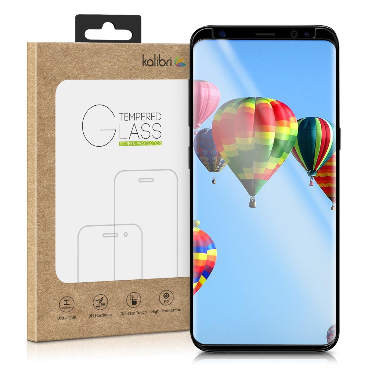 Sklo na display ochranné sklo pro Samsung S9  - Curved Display Film Compatible with Samsung Galaxy S9 - Black Frame
