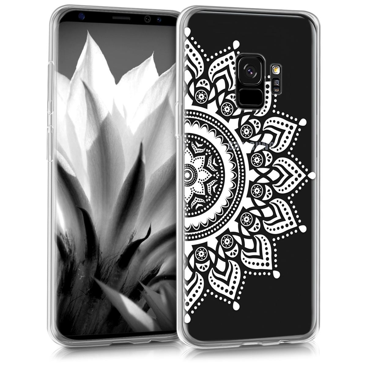 Kvalitní silikonové TPU pouzdro pro Samsung S9 - Rising Sun bílé / transparentní