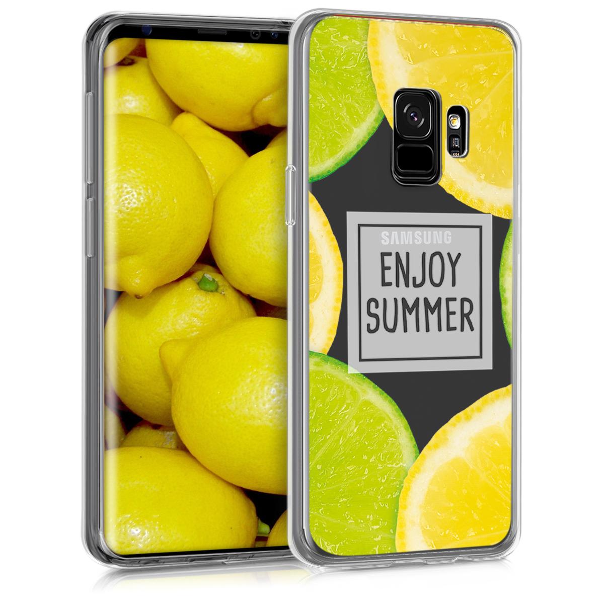 Transparentní pouzdro pro  Samsung Galaxy S9 - TPU Smartphone Backcover - Enjoy Summer Yellow / Green / Transparent