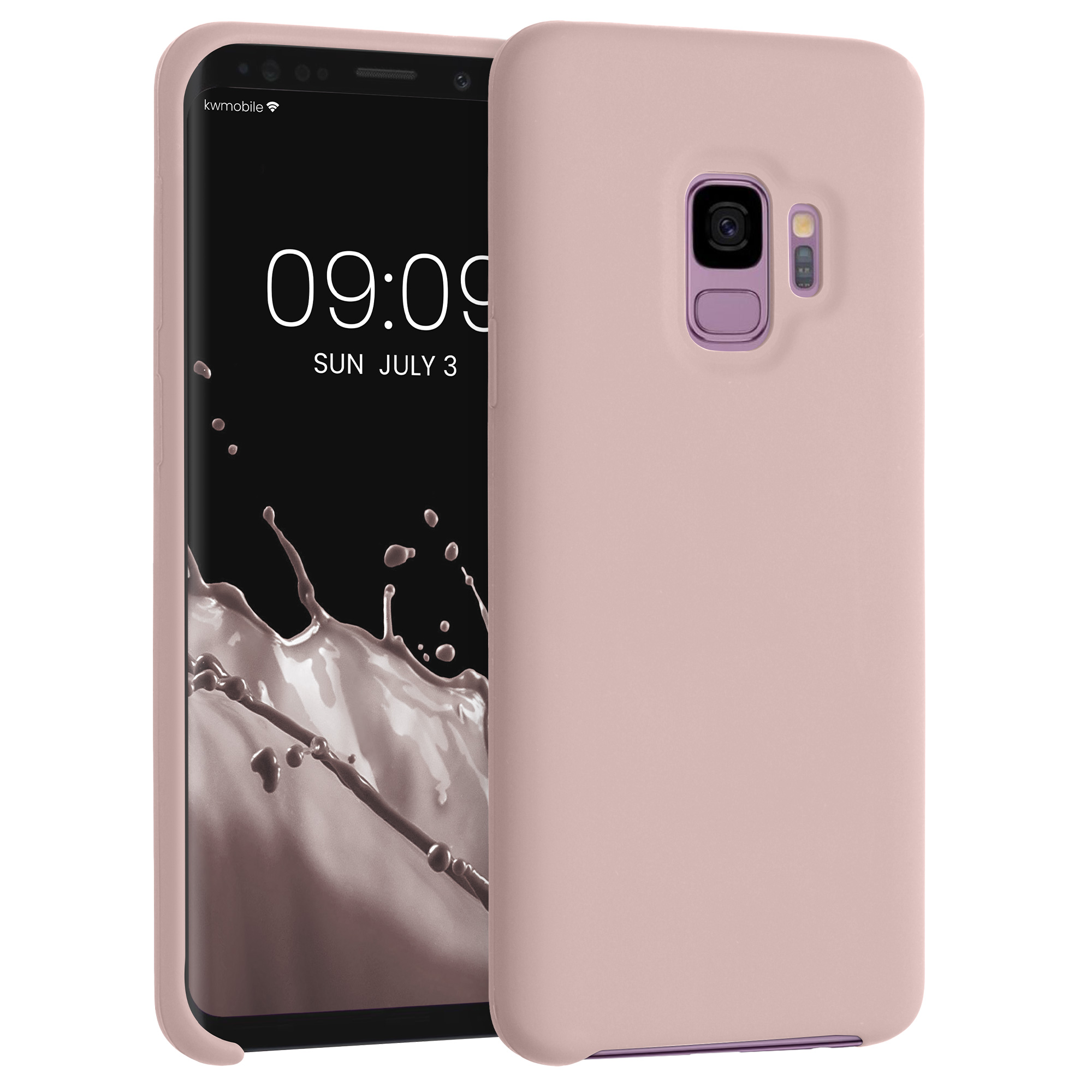 TPU Silikonové pouzdro pro Samsung Galaxy S9 - Soft Flexible Rubber Protective Cover - Light Pink Matte