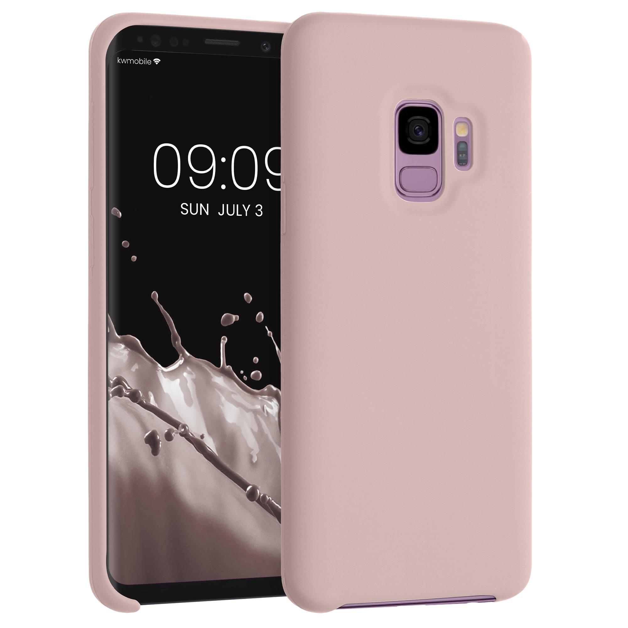 Kvalitní silikonové TPU pouzdro pro Samsung S9 - světle růžové matné
