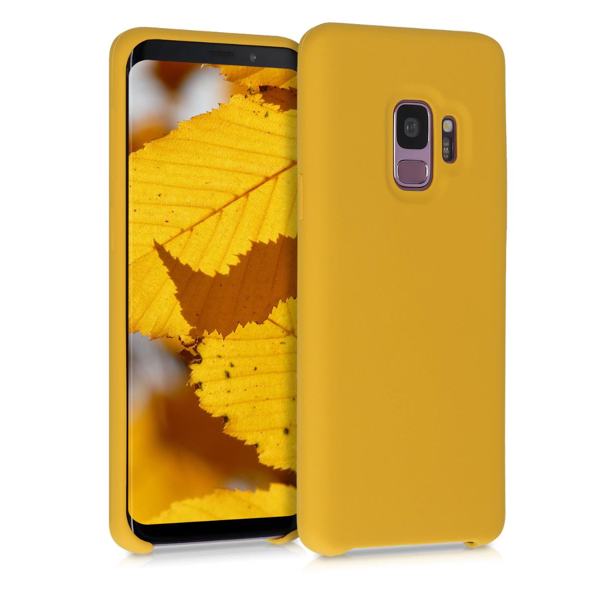 Kvalitní silikonové TPU pouzdro pro Samsung S9 - medově žluté