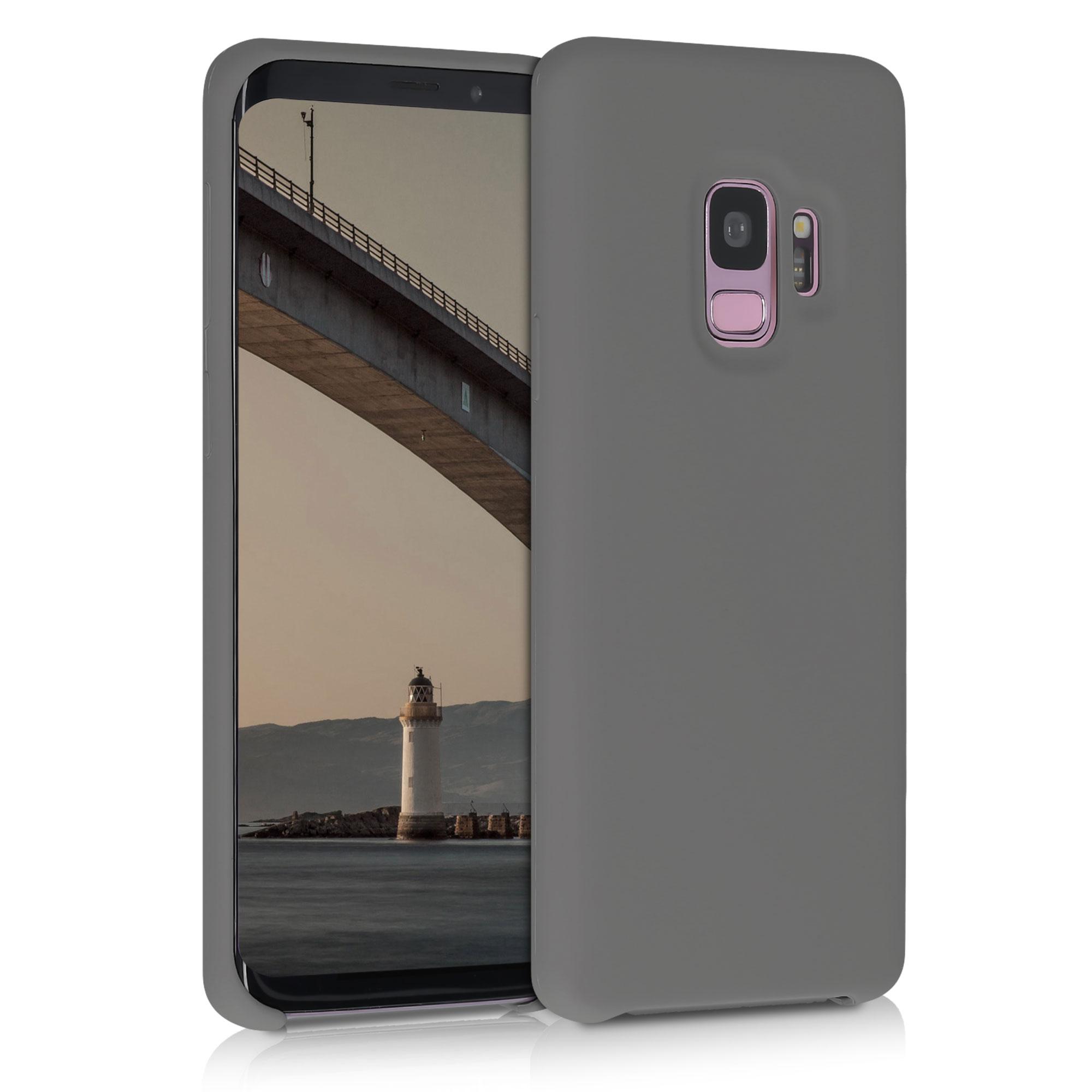 Kvalitní silikonové TPU pouzdro pro Samsung S9 - titanově šedé