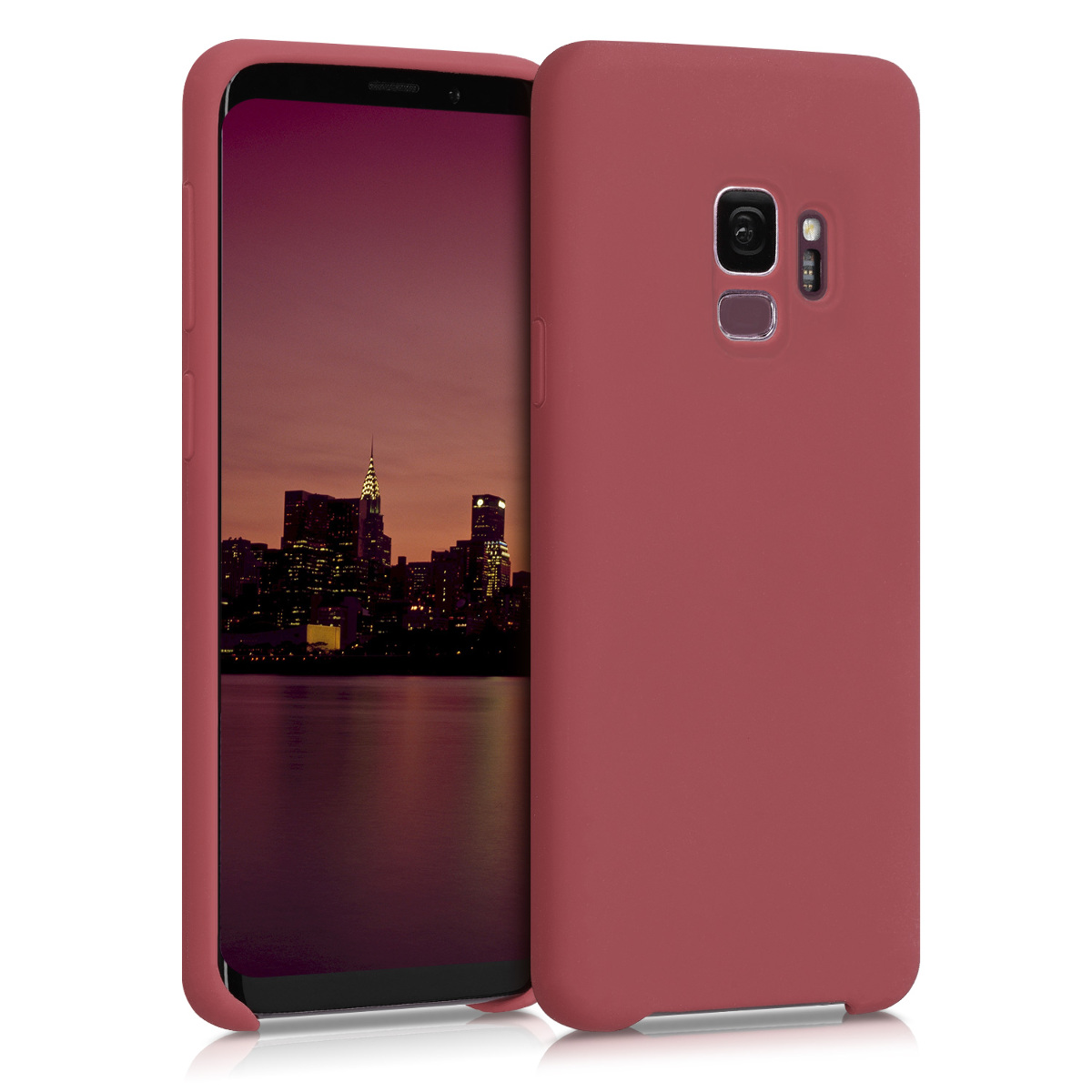 TPU Silikonové pouzdro pro Samsung Galaxy S9 - Soft Flexible Rubber Protective Cover - Maroon Red