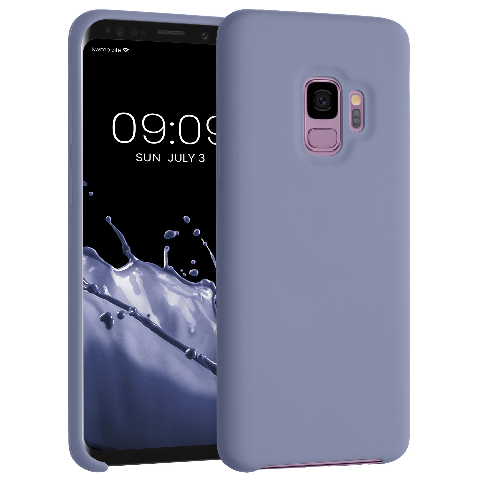 TPU Silikonové pouzdro pro Samsung Galaxy S9 - Soft Flexible Rubber Protective Cover - Lilac