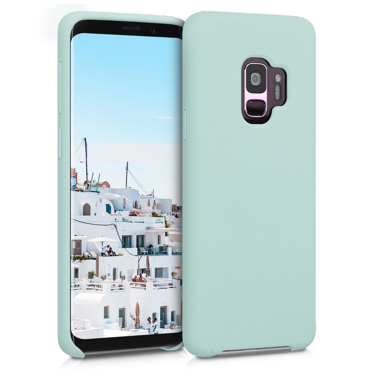 Kvalitní silikonové TPU pouzdro pro Samsung S9 - mint zelené matné